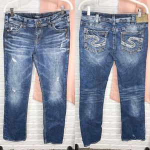 Silvers Suki Mid Slim Boot Medium Wash Jeans